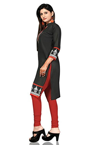 AmzG Trends Indian Kurtis for women and Girls Tunics Designer Kurti – XXX-Large, Black & Multi