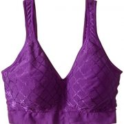 Bali Women's Comfort Revolution Wirefree Bra with Smart Sizes – Small, Grape Royal