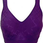 Bali Women's Comfort Revolution Wirefree Bra with Smart Sizes – Medium, Simply Purple Diamond