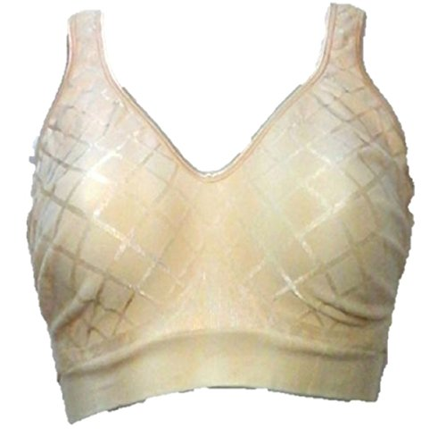 Bali Women's Comfort Revolution Wirefree Bra with Smart Sizes – Medium, Diamond Beige