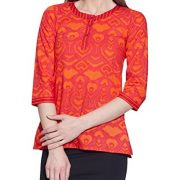 Cotton-Printed-Kurti-Women-Apparels-Tomato-Red-Tops-0