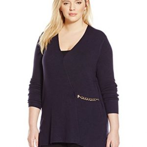 Ellen-Tracy-Womens-Plus-Size-Chain-Closure-Cardigan-0