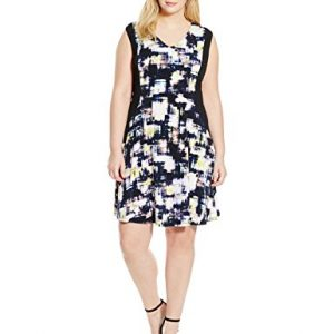 Ellen-Tracy-Womens-Plus-Size-Contrast-Fit-and-Flare-Dress-0