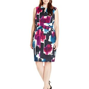 Ellen-Tracy-Womens-Plus-Size-Sleeveless-Printed-Sheath-Dress-with-Keyhole-Neck-0