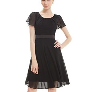 Ever-Pretty-Round-Neckline-Sleeve-Ruched-Short-Casual-Wear-to-Work-Dress-03990-0