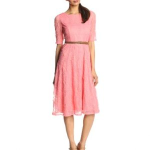Jessica-Howard-Womens-Petite-34-Sleeve-Belted-Solid-Dress-0