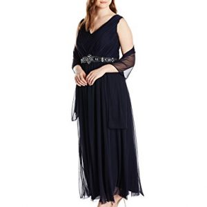 Jessica-Howard-Womens-Plus-Size-Sleeveless-V-Neck-Long-Dress-with-Scarf-0