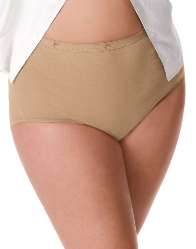 Just My Size Women's 5 Pack Cotton Brief Panty (Assortments may vary) – 9, Basic Assortment