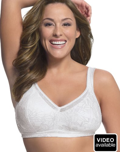 Just My Size Women's Soft Support Wirefree Pocket Bra – 40B, White