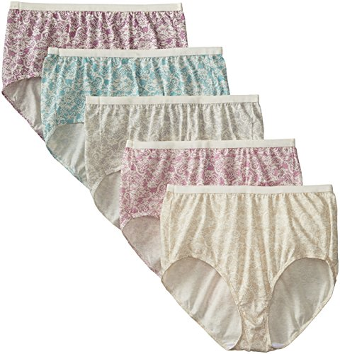 Just-My-Size-Womens-5-Pack-Cotton-Lace-Effects-Brief-Panty-0