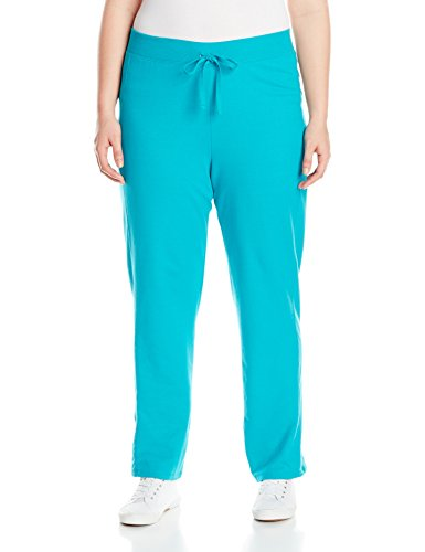 Just My Size Women's Plus-Size French Terry Pant – 1X Plus, Voyage Teal
