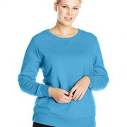 Just My Size Women's Plus-Size V-Notch Sweatshirt, Cloudless Blue, 28W/4XL