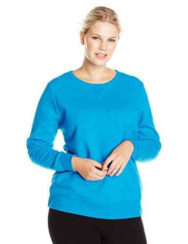 Just My Size Women's Plus-Size V-Notch Sweatshirt, Deep Dive,5XL