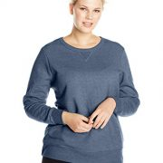 Just My Size Women's Plus-Size V-Notch Sweatshirt, Navy Heather, 24W/3XL