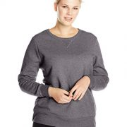 Just My Size Women's Plus-Size V-Notch Sweatshirt, Slate Heather,5XL