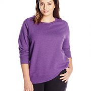Just My Size Women's Plus-Size V-Notch Sweatshirt, Violet Splendor Heather,16W/1XL