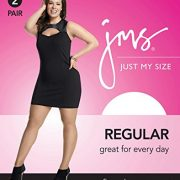 Just My Size Women's Smooth Finish Regular Reinforced Toe Panty Hose Eco, Off Black, 4X