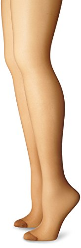 Just My Size Women's Smooth Finish Regular Reinforced Toe Panty Hose Eco, Suntan, 3X