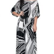 KOH-KOH-One-Shoulder-34-Sleeve-Graphic-Print-Long-Cocktail-Evening-Maxi-Dress-0