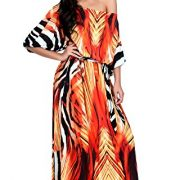 KOH-KOH-Womens-One-Shoulder-Cocktail-Evening-Elegant-Long-Graphic-Print-Maxi-Dress-0