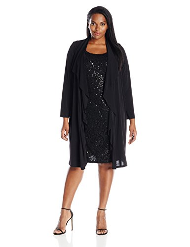 Plus size lace dress with jacket
