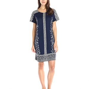 Lucky-Brand-Womens-Bordered-T-Shirt-Dress-0