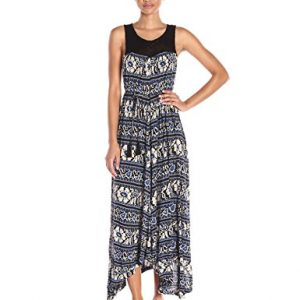 Lucky-Brand-Womens-Crochet-Yoke-Printed-Dress-0