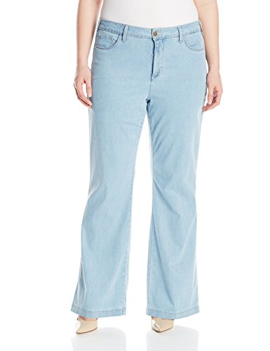 NYDJ-Womens-Plus-Size-Claire-Trousers-In-Chambray-Denim-0