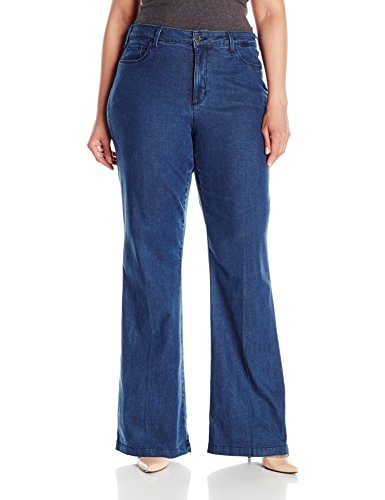 NYDJ Women's Plus-Size Claire Trousers In Chambray Denim, Beaumont, 14W
