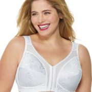 Playtex Women's Front-Close Bra with Flex Back #4695B – 52DD, White