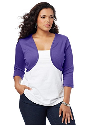 Roamans-Womens-Plus-Size-Bolero-Cardigan-0