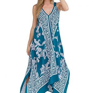 Roamans-Womens-Plus-Size-Scarf-Print-Maxi-Dress-0