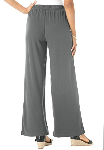 Wide Leg Knit Pant Set: Lounge around in this luxuriously cozy two-piece set. Scoopneck pullover top has long sleeves with ribbed striped cuffs. Scoopneck .