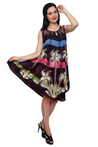 Trendzart-Palm-Tree-Beach-coverup-Tank-Caftan-Umbrella-Tunic-Blouse-0