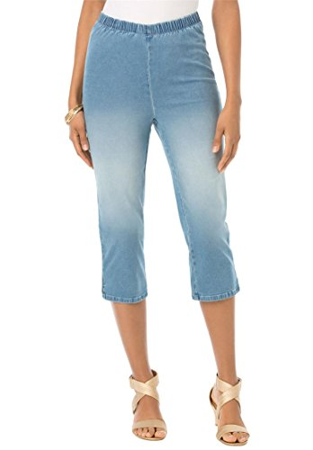 Womens-Plus-Size-Stretch-Capris-0