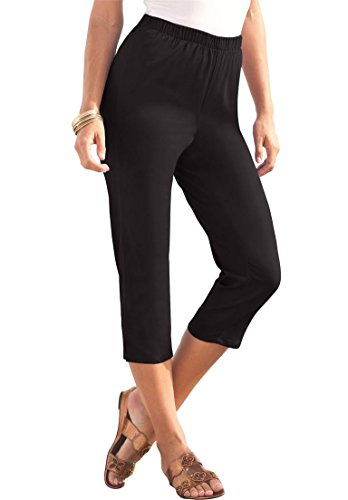 Women's Plus Size Stretch Capris – 12 Plus, Black