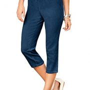 Women's Plus Size Stretch Capris – 12 Plus, Indigo