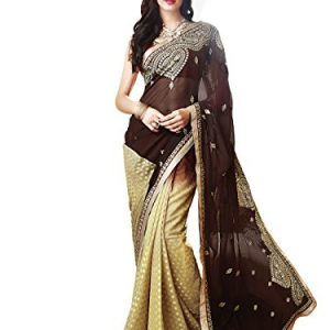 Shonaya-Womens-Georgette-Embroidery-Saree-With-Unstitched-Blouse-Piece-0