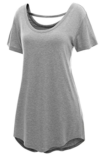 Chase-Secret-Womens-Summer-Cross-Back-Basic-Comfy-Loose-Fit-Tunic-Top-0