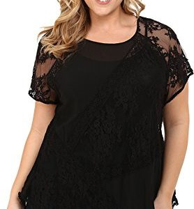 Karen-Kane-Plus-Womens-Plus-Size-Multi-Lace-Panel-Top-0