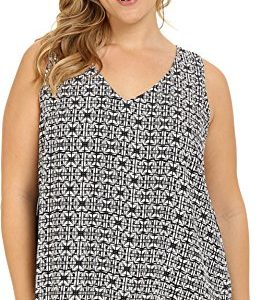 Karen-Kane-Plus-Womens-Plus-Size-Split-Back-Double-Layer-Tank-Top-0