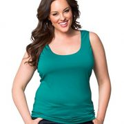 Kiyonna Women's Plus Size Most Wanted Stretch Camisole – 0X, Tuscan Teal