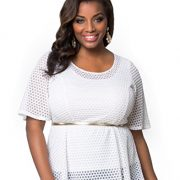 Kiyonna-Womens-Plus-Size-Sweet-Honeycomb-Top-0