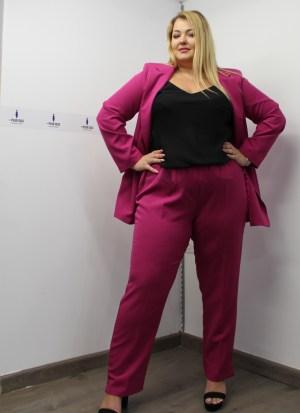 Σακάκι μεγάλα μεγέθη μεσάτο φούξια βάτες ώμους εσωτερική