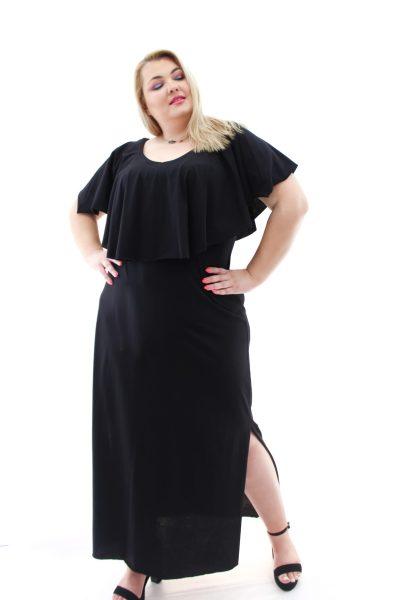 Φόρεμα βαμβακερό maxi με φραμπαλά στο στήθος σε 3 χρώματα