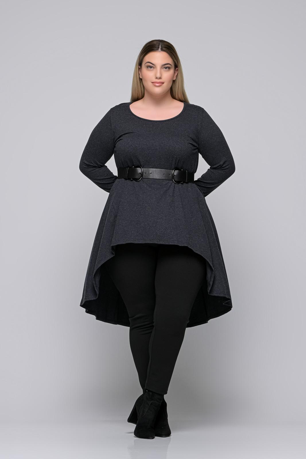 Μπλούζoφόρεμα μεγάλα μεγέθη +Psx γκρι ελαστική βισκόζ. Στο eshop μας θα βρείτε οικονομικά γυναίκεια ρούχα σε μεγάλα μεγέθη και υπερμεγέθη.
