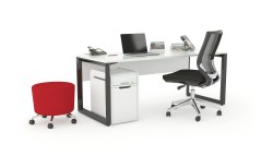 Trio Black Desk_Plus Workspace