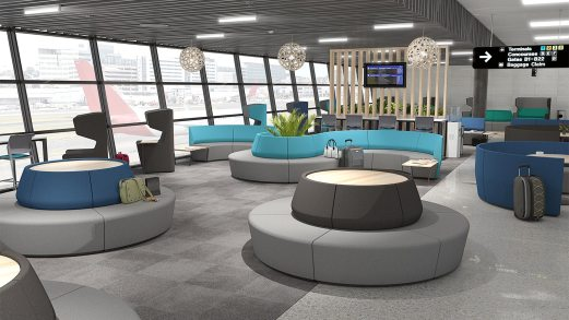 Blaze Disc modular lounges