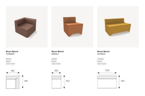 Boom Standard Pieces Dimensions