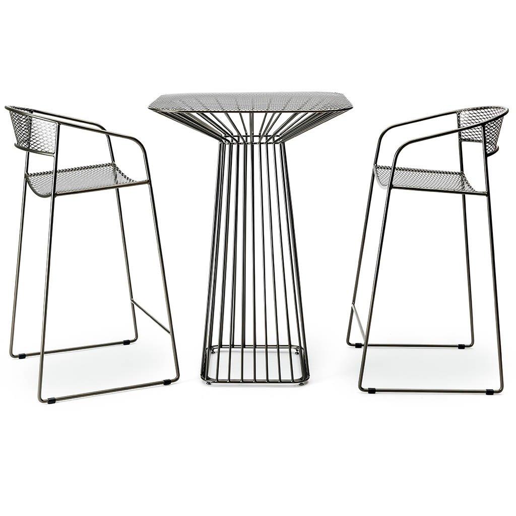 Flare Bar Table + Stools